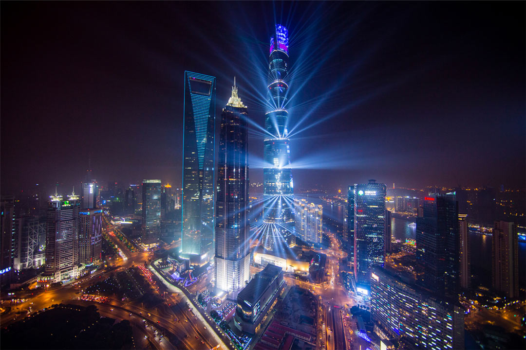 Lighting project of Shanghai Center Building